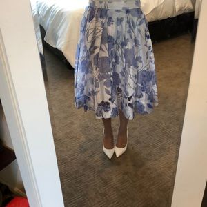 French Connection Light Blue Midi Skirt